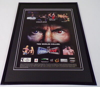 WWE Smackdown vs Raw 2004 PS2 Framed 11x14 ORIGINAL Vintage Advertisement for sale  Shipping to India