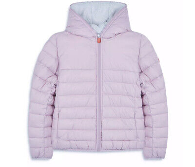 Save The Duck Puffer Jacket Coat Hooded Ultra Light 8 Years Faux Sheepskin