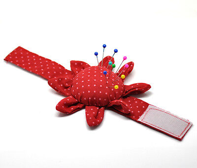Wrist Sewing Needle Pin Cushion Holder.  Flower shape.  Great Sewing Accessory