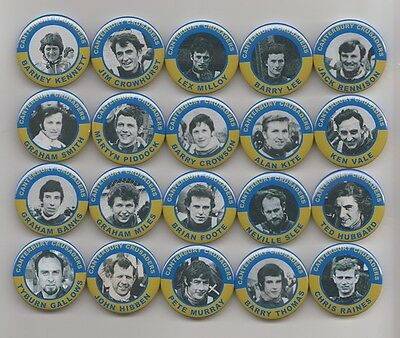 CANTERBURY CRUSADERS  SPEEDWAY EX-RIDERS SET 1 MAGNETS X20  38mm IN SIZE