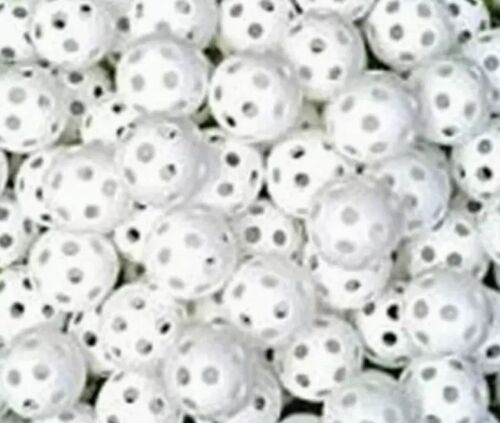60 New White Plastic Practice Golf Wiffle Balls small ball p
