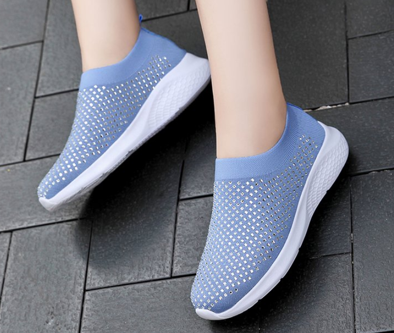 Women's Walking Slip On Shoes Casual Breathable Lightweight