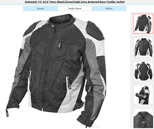 Motorcycle Jacket Armored Race Textile