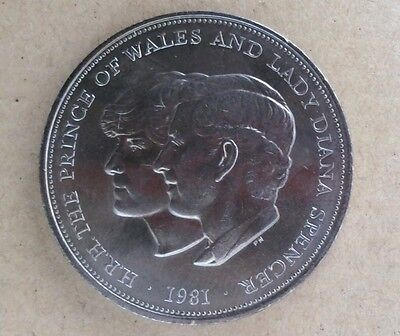 1981 Charles and Diana Wedding Crown coin