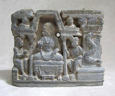 ANCIENT GANDHARAN SCHIST STONE SCULPTURE OF THE BUDDHA, circa 200 AD