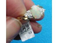 New Fraser Hart designer Opal Gold & diamond engagement ring £395