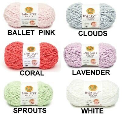 Lion Brand Baby Soft Boucle Yarn 2 & 3 Skein Lots  FREE SHIPPING bulky weight ()