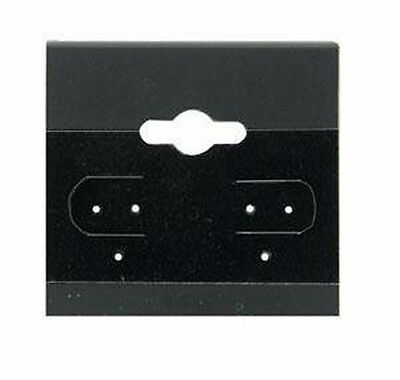 100 Black Earring Cards 2 Inch