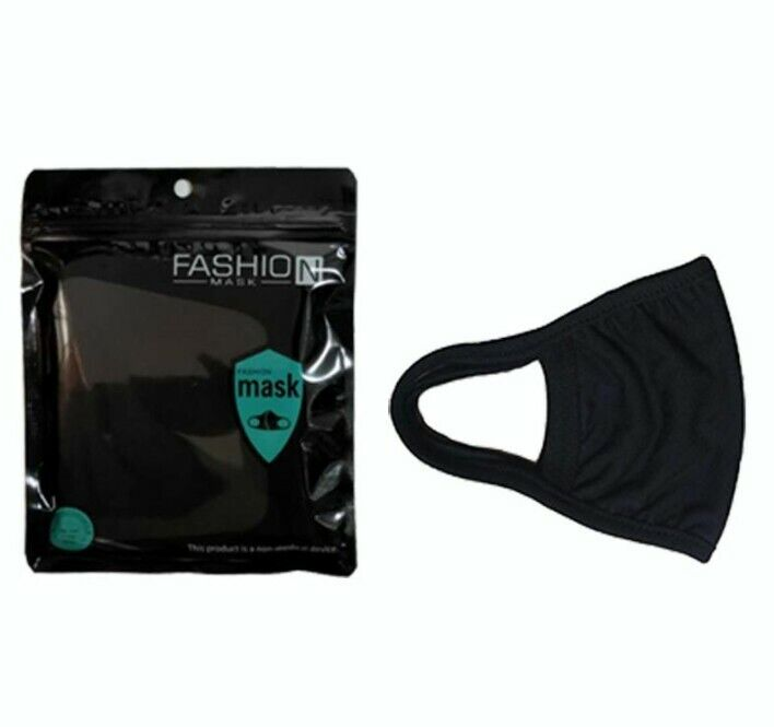 3-PACK Workout Mask for Gym/Exercise- Reusable/Washable Black