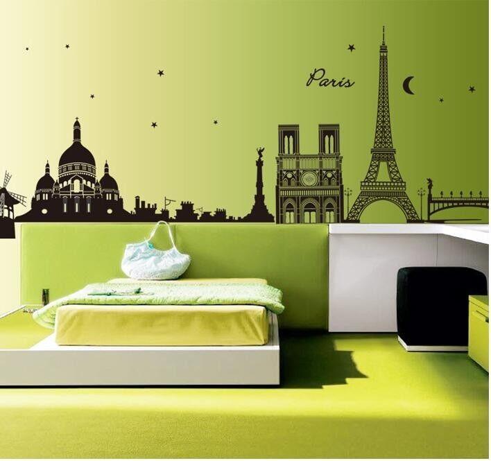 WandTattoo City Stadt Skyline wandfolie Paris WST08