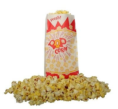 Popcorn Machine Supplies 1000 1.5 Oz Popcorn Bags