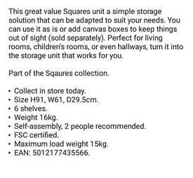 6 cube shelf unit