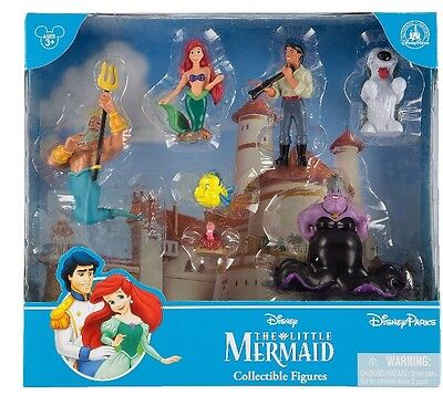 The Little Mermaid Ariel Cake Toppers Collectible Figures Play Set Disney Parks