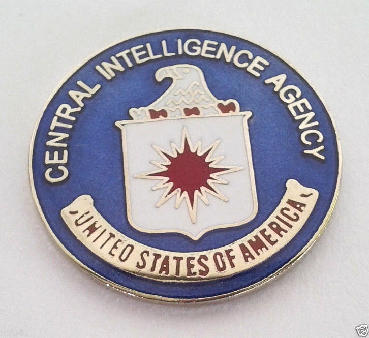 """CENTRAL INTELLIGENCE AGENCY CIA (1"""") Law Enforcement Hat Pin 15109 HO"""