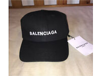 Balenciaga Cap black unisex adjustable fit