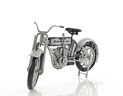 Harley Decor (Harley-Davidson Model 7D Twin 1911 Motorcycle Metal Model 12.5