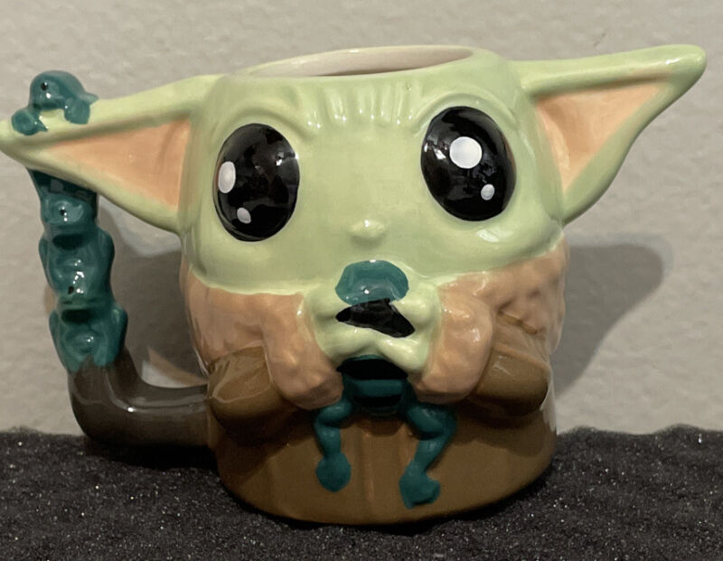Star Wars The Mandalorian The Child Baby Yoda Sculpted Ceramic Mug Tomorrow Ship