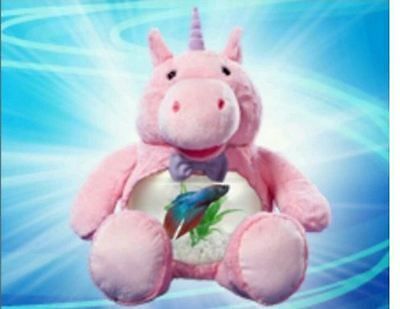 Teddy MAGICAL UNICORN Fish Tank, or for Snacks or Coins (As seen on TV Betta)