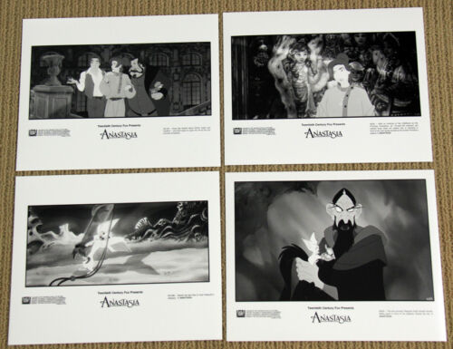 ANASTASIA animated still 8x10 black and white 4 PHOTOS SET Meg Ryan ANIMATION