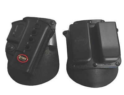 FOBUS RH Evolution Paddle GL2-ND Glock 19/17/22/ & 6900 RT Double Mag Holder](fobus paddle holster glock 17)