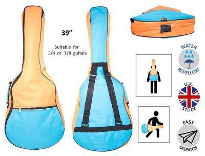 Blues Classical Guitar Case (Light Blue & Orange Classical Acoustic Guitar Case Bag 36