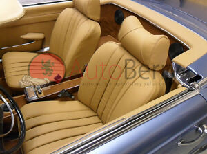 Mercedes w107 280sl 560sl 380sl 450sl leather replacement for Mercedes benz replacement seat covers
