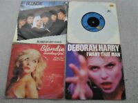 FOUR BLONDIE SINGLES FOR SALE. NO REASONABLE OFFER REFUSED