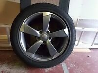 17in Audi Style Rotor Wheels fitted with Uniroyal 225/50/R17 Winter Tyres (4)