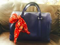 Zara electric blue handbag