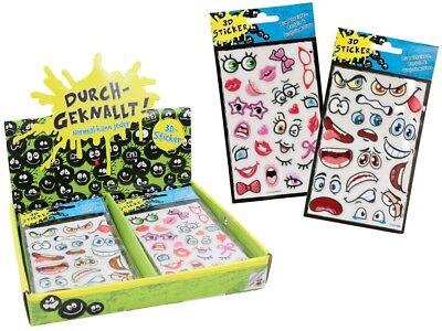 2x  Sticker 3D Klebebild Mitgebsel Kinder Geburtstag Adventskalender St.0,99€