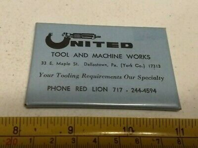 Vintage United Tool and Machine Works Dallastown PA Advertising Pocket Mirror