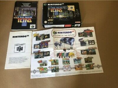 *NO GAME* BOX+INSTRUCTIONS ONLY THE NEW TETRIS TETRUS UK Nintendo N 64 N64