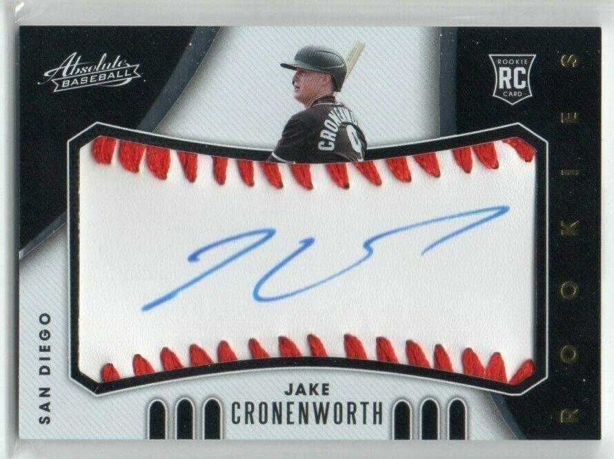 2021 Absolute Jake Cronenworth Auto Rookie Baseball Signatures d 49/99 RC - $34.99