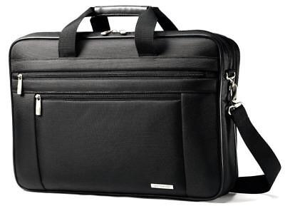 "Samsonite Classic Business Cases, 17"" Two Gusset Laptop Briefcase in Black"