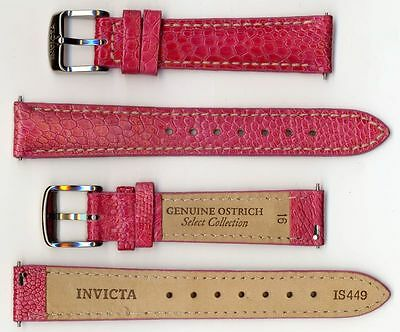 Invicta Genuine Ladies 16mm Pink Ostrich Leather Watch Strap Is449 Brand on sale