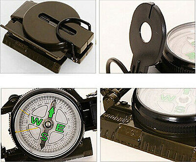 Lensatic Compass Military Camping Hiking Army Style Survival Marching Metal New