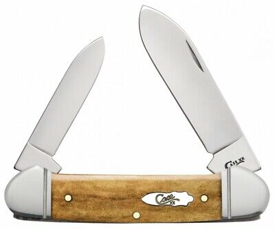 Case xx Canoe Knife Smooth Antique Bone Handle Stainless Pocket Knives 58198