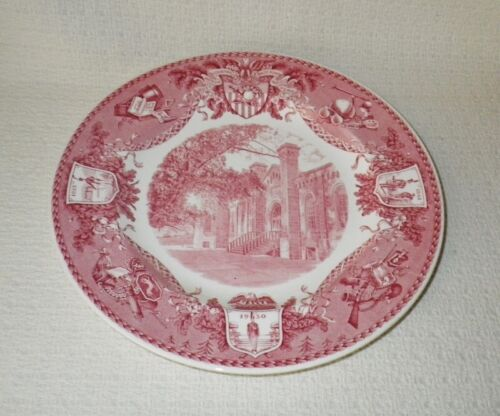 Wedgwood WEST POINT Military Academy Grant Hall Pink Transferware Plate