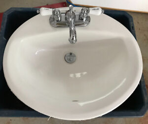 Vanity sinks and faucets (3 sets)