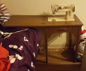 Table With Hidden Old Singer Sewing Machine