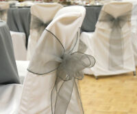 Charcoal Organza Sashes for Sale