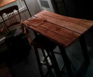 Table rustique en bois de grange centenaire