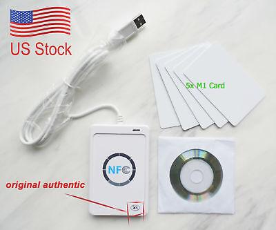 NFC ACR122U RFID Contactless smart Reader & Writer/USB + SDK +5×M1 Card