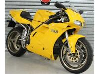 1999 99 S DUCATI 748 B BIPOST HPI CLEAR TRADE SALE YELLOW 22K NEW MOT STANDARD