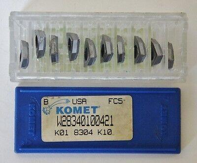 Komet W28340100421 Carbide Cutting 10 Inserts K01 8304 K10 Grade