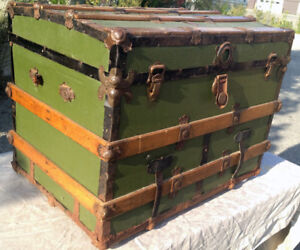 Handsome Original Steamer Trunk w/ Patina! See VIDEO