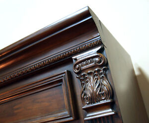 Two Fancy & Ornate Media / Component Shelving Units SEE VIDEO