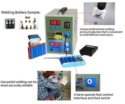 Multifunction 18650 800a Battery Welder Microcomputer Pulse Spot Welding Machine
