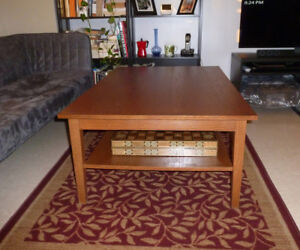 Large, Wooden, Good-Quality Table / Coffee Table