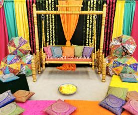 Wedding stage Mehndi stage